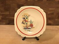 Vintage Riviera Saucer Mexicana Decals Hacienda Conchita Homer Laughlin