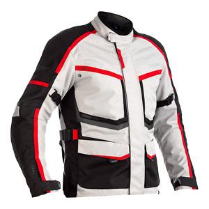 RST 102492 Maverick CE Textile Motorcycle Motorbike Jacket - Silver/Black/Red