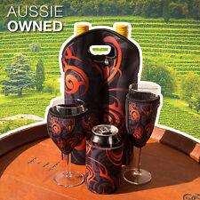 Cooler Gift Set Neoprene Wine Glass Champagne Glass Stubby Twin Bottle  ORANGE