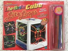 Lite Brite Cube Picture Refill Set 12 Pictures 25+ Lite Loops Pegs 3D 04963 NEW