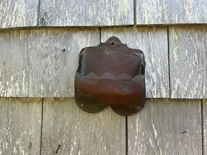 Antique Copper Matchstick Holder Wall Mounted