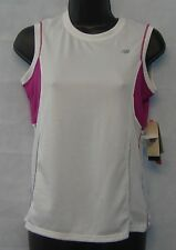 Women's T Shirt New Balance Size Small New #002 White