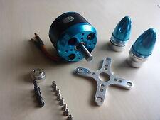 Silver Blue C6354 200kv Brushless Outrunner Motor mit Zubehör 3D