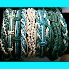 set of 10 cotton, wooden, boho ,braided , surf friendship bracelets bottle