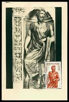 SPAIN MK 1962 BERRUGUETE HOLZSCHNITZEREI SKULPTUR CARTE MAXIMUM CARD MC CM cf69