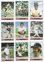 1979 Topps Burger King Yankees Team Set Reggie Jackson Thurman Munson 21 Cards