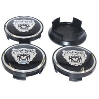 Jaguar 4 x 58mm Schwarz Silber Allufelge Nabenkappen Felgendeckel Satz