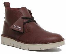 Clarks Originals Desert Boot 2.0 Burgundy Lightweight Lace Up Size UK 6 - 12