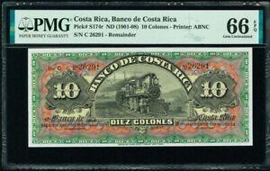 Costa Rica 10 Colones (1901-08) Pick-S174r GEM UNC PMG 66 EPQ