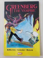 GREENBERG THE VAMPIRE GRAPHIC NOVEL MARVEL COMICS 2015 J.M. DeMATTEIS! BADGER!