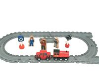 Thomas & Friends Grey Train Track 2006 GULLANE & 2 Melissa & Doug Trains EUC