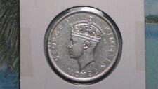 """FIJI ISLANDS - 1943 """"s"""" FLORIN - COLONIAL ERA - PREDECIMAL COIN. Silver 92.5%"""