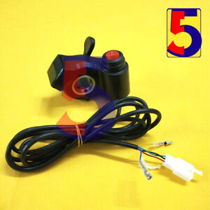 24V36V48V Ebike Parts Thumb Throttle with LCD Voltage Display and Power Switch