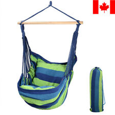 GreenWise® Hammock Chair Tree Swing Rope Hanging Seat Garden with 2 Pillows