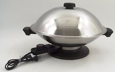 "Euc Meyer Ew8300 Large 14"" Stainless Steel Fully Immersible Electric Wok & Lid"