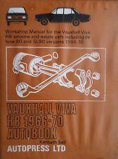 Vauxhall viva HB, Autopress Workshop Manual, Kenneth Ball free p&p to uk