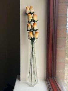 Wooden Flowers - Bunch of 8 wood cut flowers