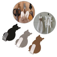 Self Adhesive Stick on Wall Cat Pattern Hooks Towel Racks Storage Holder Hanger