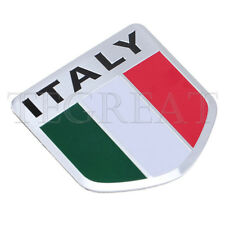 ITALY Italian Flag Car Truck Auto Aluminum 3D Shield Emblem Badge Decals Sticker