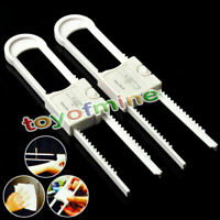 2 Pcs Child Kids Baby Cute Safety Lock For Door Cupboard Cabinet White