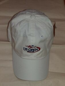AMERICAN NEEDLE 2015 US OPEN TENNIS ADULT WHITE ADJUSTABLE CAP SIZE OSFM NWT