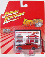 Johnny Lightning Muscle Cars 1969 Dodge Coronet Super Bee Red Orange Red Line
