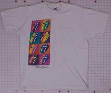 Rolling Stones Vintage XL Pocket Tee-Shirt w/8 Tongues 1989