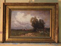 Franz REDER-BROILI (1854-1918) kleines Ölgemälde Ölskizze Romantiker