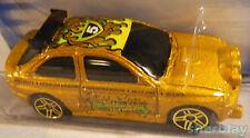 Hot Wheels Mattel Diecast Car 2003 064 FORD ESCORT flamin H W Series # 5 MOC