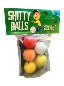Sh*tty Balls for Sh*tty Golfers  - Funny Golf Gag Gift, Adult Stocking Stuffers