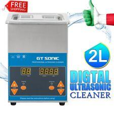 2L Lavatrice Pulitore ad Ultrasuoni Digitale Pulizia Pulitrice Coperchio Orario