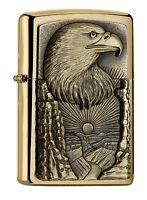 ZIPPO Benzin Feuerzeug Eagle Head over the Grand Canyon Emblem 2005047 NEU OVP