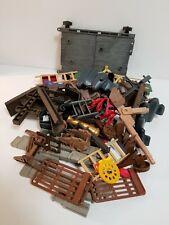 Lot - Playmobil Castle 3666 Replacement Parts - Connectors Posts Ladders Frame