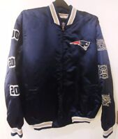 New England Patriots Superbowl Champions Mens Insulated Satin Jacket New Large