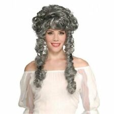 Gray Ghastly Ghost Bride Wig Old Lady Witch Beetlejuice Zombie Corpse Banshee