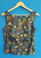 Folio Saks Fifth Avenue Women's Size 4 Fitted Camisole Sleeveless Blouse