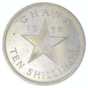 1958 Ghana 10 Shillings - Kwame Nkrumah - TC *889
