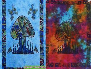 2 piece Mushroom Tapestry Bohomen Indian Wall Hanging Wholesale (77cmX102cm)TM-1