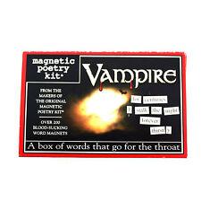 Vampire Aimant de réfrigérateur Poésie Ensemble - réfrigérateur poésie