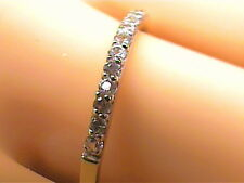 Solid 9k 375 yellow GOLD Ring 12 natural white sapphire band wedding engagement