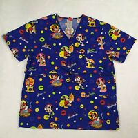 Disney M Mickey Minnie Mouse Halloween Scrub Top