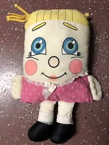 """Vtg 24"""" Large 1985 Pillow People Sweet Dreams Pink Girl Stuffed Plush Toy 80s"""
