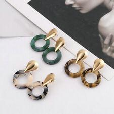 Women Acrylic Water Drop Hollow Round Geometric Dangle Earrings Fashion Jewelry