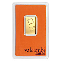 Lot of 25 x 10 gram Valcambi Gold Bar