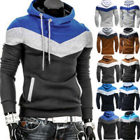 KI Men's Slim Winter Warm Hooded Sweatshirt Hoodie Coat Jacket Outwear Sweater