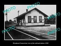 OLD LARGE HISTORIC PHOTO OF WOODMONT CONNECTICUT THE RAILROAD DEPOT c1920