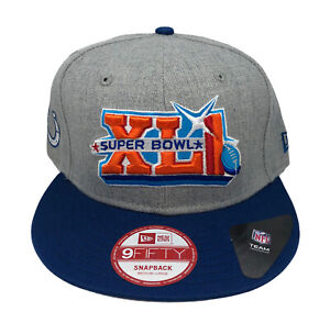 Super Bowl XLI Indianapolis Colts New Era 9FIFTY Snapback Cap NWT