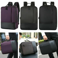 "Men Women 15.6"" Laptop Backpack Travel Business Handbag School Bag w/ USB Port"