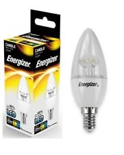 1x Energizer E14 SES Candle LED Light Bulb 250lm Clear 3.4W=25W Warm White 2700k