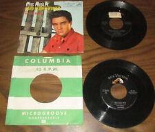 """Elvis Presley (2) 7"""" Lot """"Heartbreak Hotel, Hard Headed Woman"""" RCA Victor VG+"""